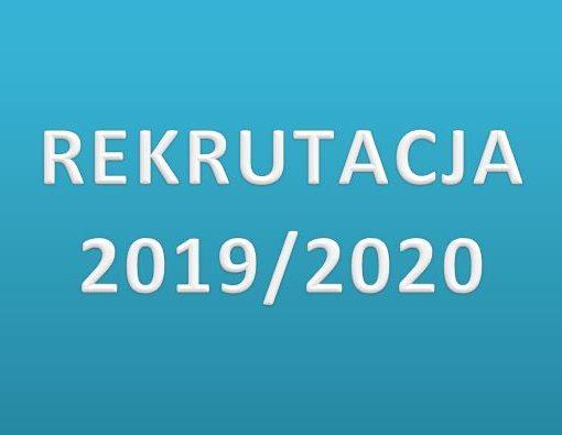 tekst: rekrutacja 2019/2020